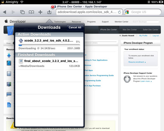 Safari Download Manager Updated For iPhone 4, iPad, And iOS
